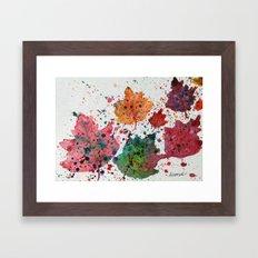 Dancing Leaves Print - Fall Autumn leaves in Maine Framed Art Print