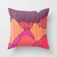 Mountain Cliffs  Throw Pillow