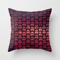 Stormtroopers On Red Sta… Throw Pillow
