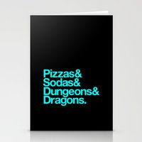Dungeons & Dragons & Swa… Stationery Cards