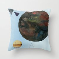 Moons and Mountains Throw Pillow