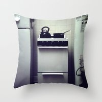 Stove. Throw Pillow