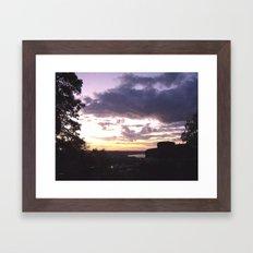 Sunset Over Ohio River Valley Framed Art Print
