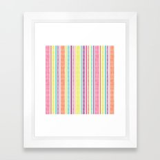 Textured Stripes Framed Art Print