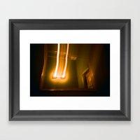 E.V. Bathroom Framed Art Print