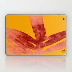 Green Fern on Red On Fire  Laptop & iPad Skin