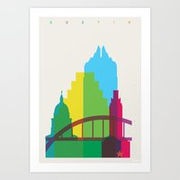 Shapes Of Austin. Accura… Art Print