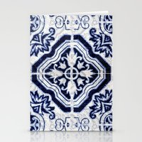 Blue Tile Pattern VII - … Stationery Cards