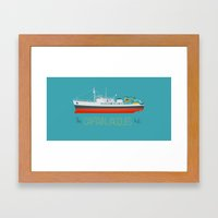 Captain Jacques' Boat Framed Art Print