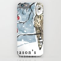 Lonely Owl Christmas Car… iPhone 6 Slim Case
