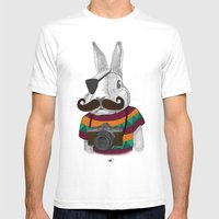 Wabbit Mens Fitted Tee White SMALL