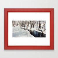 Snowy Creek Framed Art Print