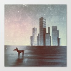 LEAVING CITY Canvas Print