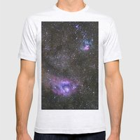 Lagoon And Trifid Nebula… Mens Fitted Tee Ash Grey SMALL