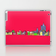 Sketchy Town in pink Laptop & iPad Skin