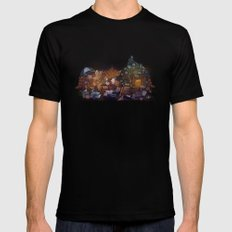Blanket Fort Mens Fitted Tee Black SMALL