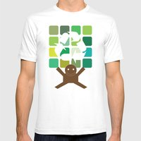 Green World Mens Fitted Tee White SMALL