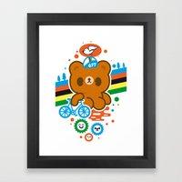 CycleBear - Champignon D… Framed Art Print