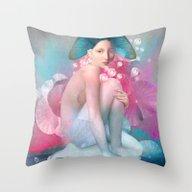Water Maiden Throw Pillow