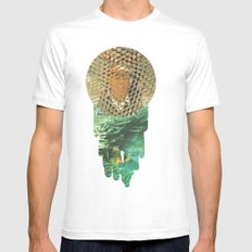 Honeycomb View Mens Fitted Tee SMALL White