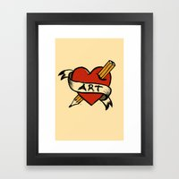 In love with Art Framed Art Print