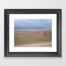 Reds and Blues Framed Art Print