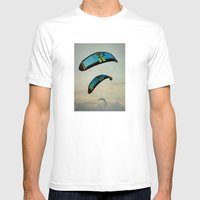 Surf Kite Mens Fitted Tee White SMALL