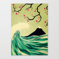 Canvas Print featuring Falling In Love by Yetiland