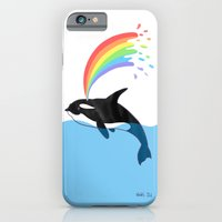 Killer Whale Blows Rainbow iPhone 6 Slim Case