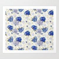 Cape Cod Hydrangeas & Go… Art Print