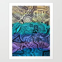 Watercolor Doodle Art Print