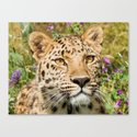 LEOPARD LOVE Canvas Print