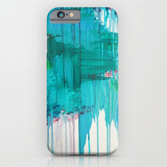 BLUE MONSOON - Stunning Rain Storm Dark Teal Clouds Navy Royal Blue Kelly Green Crimson Red Purple iPhone & iPod Case