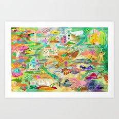 20,000 Leagues Art Print