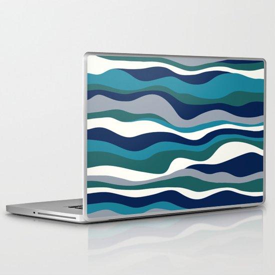 Cordillera Stripe: Teal Navy Combo Laptop & iPad Skin