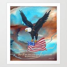 Free Indeed Art Print