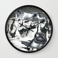 Yes, It's Safer Up Here ! Wall Clock