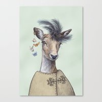 Oh deer, that´s posh! Canvas Print