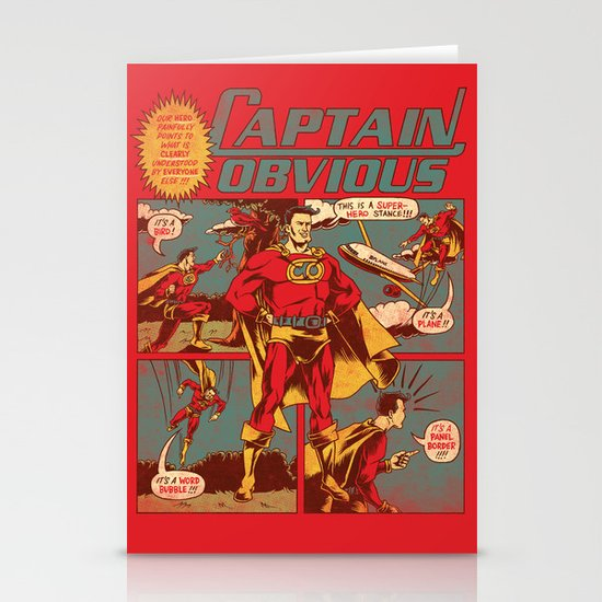 Captain Obvious! Stationery Card