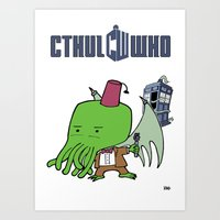Cthul'Who Art Print
