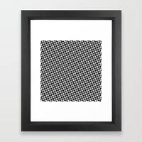 BLACK DOT Framed Art Print