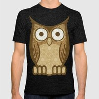 Owl Always Love You Mens Fitted Tee Tri-Black SMALL