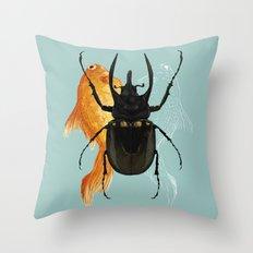 Beetle Juice Throw Pillow