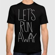 Let's Run Away X Snow Mo… Mens Fitted Tee Black SMALL