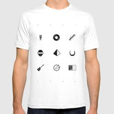 Tribute To Daft Punk, W&B. White Mens Fitted Tee SMALL