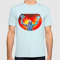 Creature From The Black … Mens Fitted Tee Light Blue SMALL