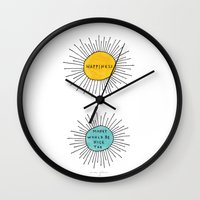 Happiness / Money would be nice too Wall Clock