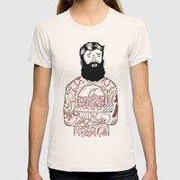 Matt the Hack Womens Fitted Tee Natural SMALL