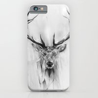 portrait iPhone & iPod Cases featuring Red Deer by Alexis Marcou