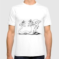 TongueAttack Mens Fitted Tee White SMALL
